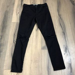 Topshop Jeans - TOPSHOP Moto Leigh 30 High Rise Busted Knee Jeans